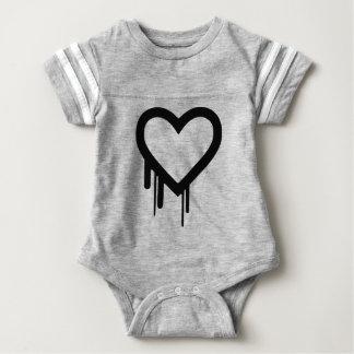 Body Para Bebê Coração preto do gotejamento de Heartbleed