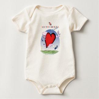 Body Para Bebê coração principal de South Carolina, fernandes