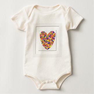 Body Para Bebê Coração quadro