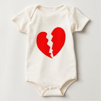 Body Para Bebê Coração quebrado