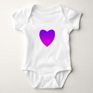 Body Para Bebê Coração roxo/cor-de-rosa