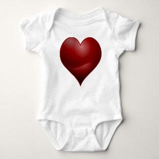 Body Para Bebê Coração vermelho