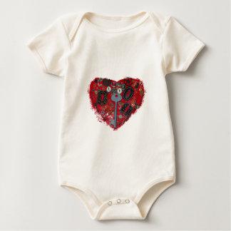 Body Para Bebê Coração vermelho Steampunk