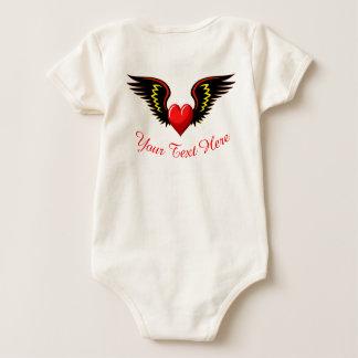 Body Para Bebê Coração voado