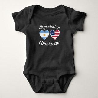 Body Para Bebê Corações argentinos da bandeira americana