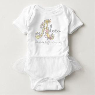 Body Para Bebê Corações conhecidos do monograma do significado