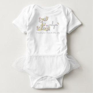 Body Para Bebê Corações de significado conhecidos do monograma