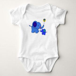 Body Para Bebê corações do balão do elefante dos namorados