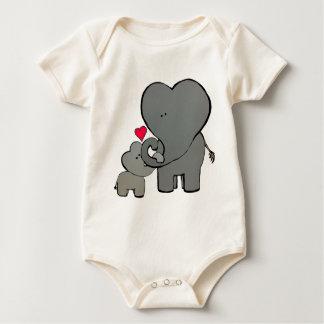 Body Para Bebê Corações do elefante - um amor inesquecível