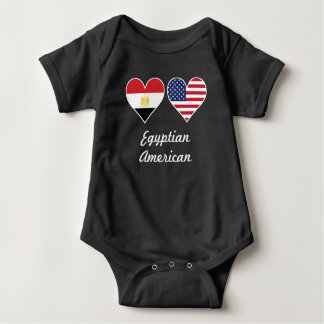 Body Para Bebê Corações egípcios da bandeira americana