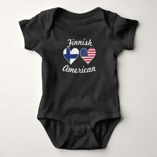 Body Para Bebê Corações finlandeses da bandeira americana