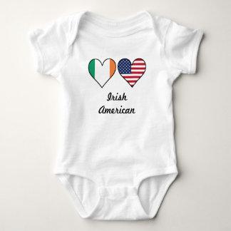 Body Para Bebê Corações irlandeses da bandeira americana