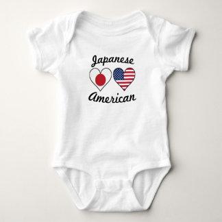 Body Para Bebê Corações japoneses da bandeira americana
