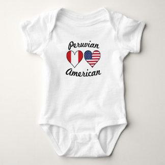 Body Para Bebê Corações peruanos da bandeira americana