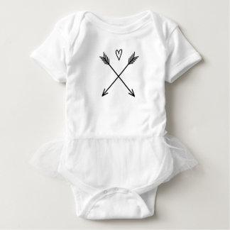Body Para Bebê Corações & setas
