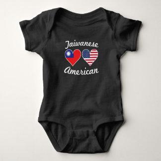 Body Para Bebê Corações taiwaneses da bandeira americana