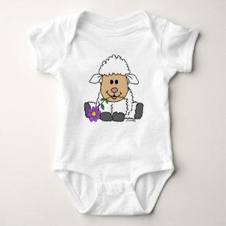 Body Para Bebê Cordeiro pequeno [pureza & amor]