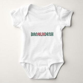 Body Para Bebê Cores da bandeira da tipografia de Bangladesh 3Sul