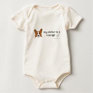 Body Para Bebê CorgiPembrokeSister