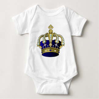 Body Para Bebê Coroa real do azul & do ouro