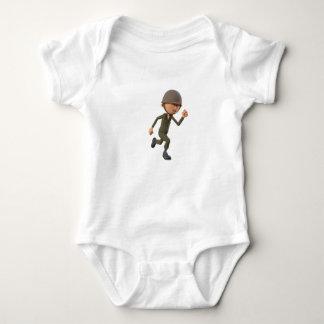 Body Para Bebê Corredor do soldado dos desenhos animados