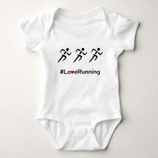 Body Para Bebê Corredores Running do slogan do amor