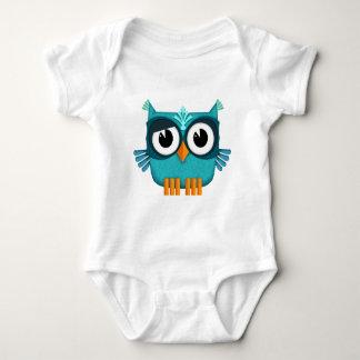 Body Para Bebê coruja azul