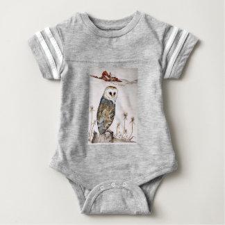 Body Para Bebê Coruja de celeiro na caça