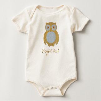 Body Para Bebê Coruja de noite