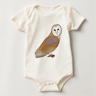 Body Para Bebê Coruja de véu