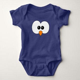 Body Para Bebê Coruja interrogativa - azul marinho