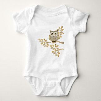 Body Para Bebê Coruja larga dos olhos na árvore