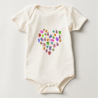Body Para Bebê Corujas do amor