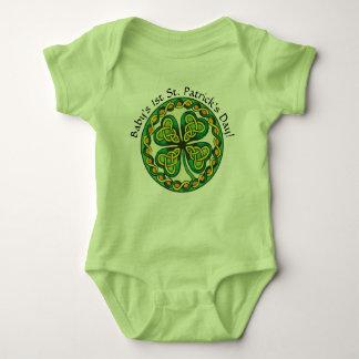 Body Para Bebê Costume do dia de St Patrick