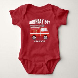 Body Para Bebê Costume do menino do aniversário do carro de
