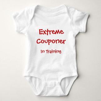 Body Para Bebê Couponer extremo no treinamento