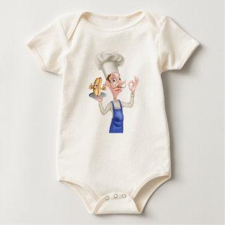 Body Para Bebê Cozinheiro chefe com Hotdog perfeito