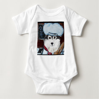 Body Para Bebê Cozinheiro chefe do Malamute do Alasca