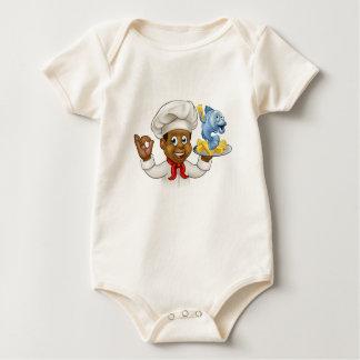Body Para Bebê Cozinheiro chefe do peixe com batatas fritas dos