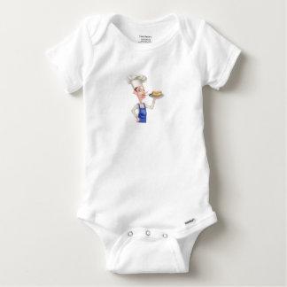Body Para Bebê Cozinheiro chefe dos desenhos animados com