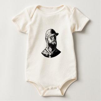Body Para Bebê Cozinheiro chefe farpado Scratchboard