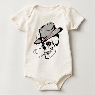 Body Para Bebê crânio cor-de-rosa do olho