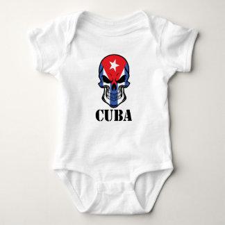 Body Para Bebê Crânio cubano Cuba da bandeira