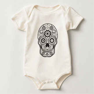 Body Para Bebê Crânio de sorriso do açúcar