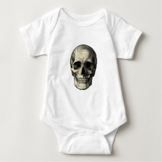 Body Para Bebê Crânio do jornal