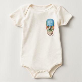 Body Para Bebê Crânio do Netter em um bebê de uma peça só