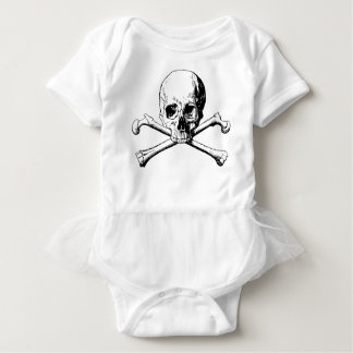 Body Para Bebê Crânio dos Crossbones