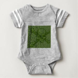 Body Para Bebê Crânio e conceito em linha da ameaça dos
