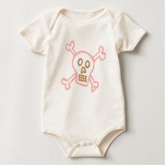 Body Para Bebê Crânio e Crossbones da menina