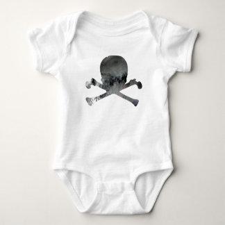 Body Para Bebê Crânio e ossos